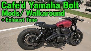8. 2015 Cafe'd Yamaha Bolt Walkaround + Exhaust Sound