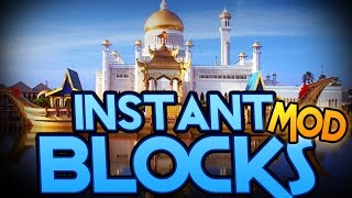 Minecraft Mod | INSTANT BLOCKS MOD! (Instant Structures, Statues, and More!) - Mod Showcase