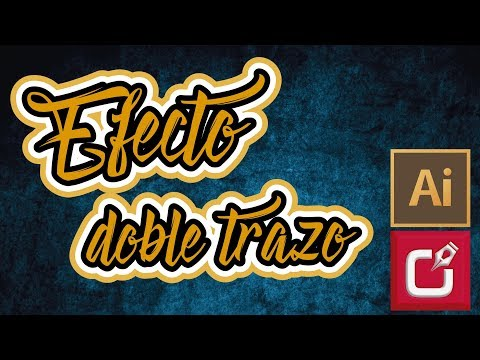 🔴 Efecto Doble Trazo En Texto En ILLUSTRATOR, Mira El Video ⭐⭐⭐⭐⭐