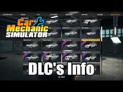 Car Mechanic Simulator DLC Update | CMS | Consoles | DLC Prices New Cars