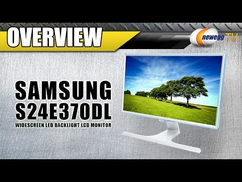 Samsung S24E370DL Built-In Wireless Charging Monitor Overview - Newegg TV