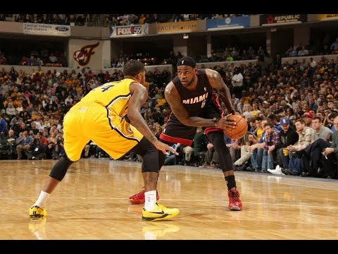 LeBron Single-Handedly Beats Three Pacers Defenders on Fastbreak
