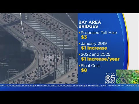 BRIDGE TOLL HIKE:  Bay Area Transportation Officials Meet To Decide If A $3 Toll Increase Should Be
