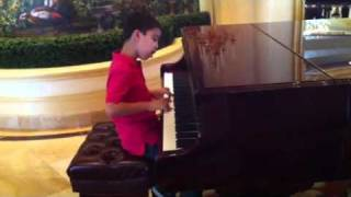 Ethan Bortnick Plays Piano At Las Vegas Hilton