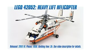 'Lego Technic 42052: Heavy Lift Helicopter' Unboxing, Parts List, Speed Build & Review