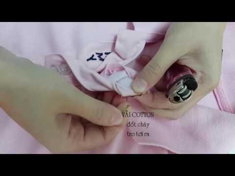 Cách phân biệt vải thun Cotton, Polyeste (PE xù lông )