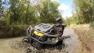 3. Can am 650 Xmr Deep Mud @ Powerline Park