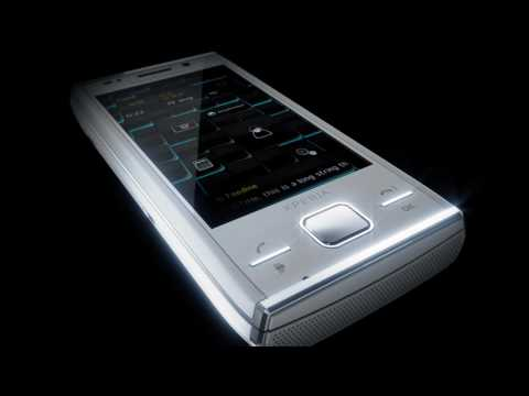 Youtube Video Sony Ericsson Xperia X2 Freie Ware in modern silver