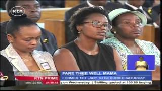 Somber Mood As Requiem Mass For Former First Lady Lucy Kibaki Is Held In Nairobi