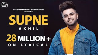 Video Akhil - Supne | Lyrical Video | Latest Punjabi Song | New Official Song |Hit romantic love song MP3, 3GP, MP4, WEBM, AVI, FLV September 2019