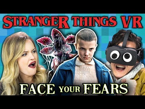 STRANGER THINGS VR | Face Your Fears (React: Gaming) (видео)