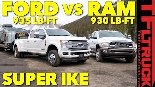 2018 Ram 3500 HD vs Ford F350 vs World's Toughest XXL Towing Test! by The Fast Lane Truck