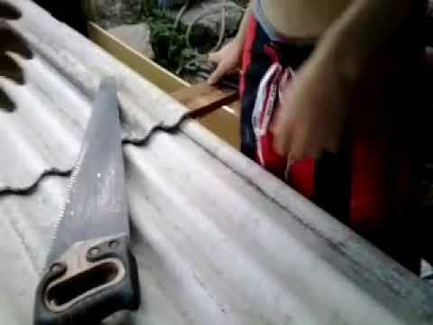 Aprenda como cortar uma telha de metedo facil