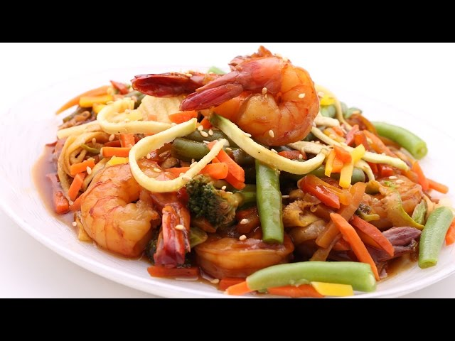 Asian Shrimps & Vegetables Stir Fry