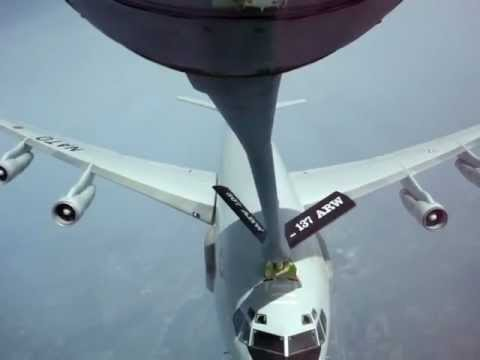 tanker - More info: http://www.nycaviation.com/2012/10/video-awacs-jet-nearly-crashes-into-tanker-during-fueling-attempt/ A NATO E-3 Sentry nearly collides with a US ...
