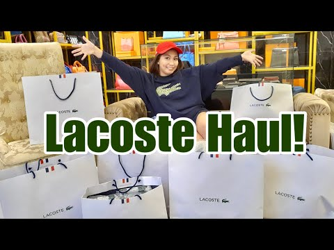 LACOSTE SHOPPING HAUL ( Bag Talks by Anna )