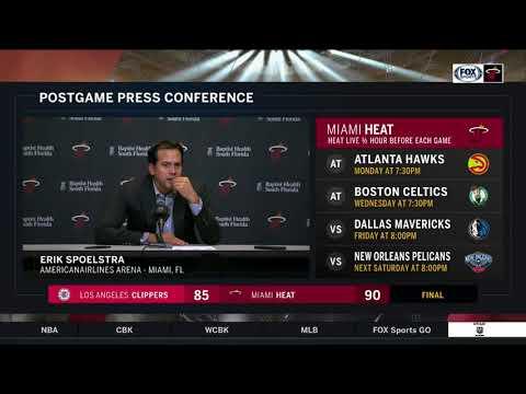 Erik Spoelstra -- Miami Heat vs Los Angeles Clippers 12/16/17