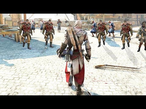 Assassin's Creed 3 Master Assassin Connor Combat Rampage, Bear Fights & Free Roam