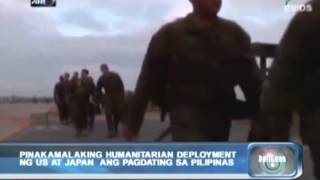 Balitaan: Pinakamalaking Humanitarian Deployment Ng US At Japan, Padating Sa Pilipinas