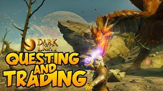 DARK AND LIGHT - NPCs, Questing, Traders and Gold! - Dark and Light Gameplay #2What is Dark and Light?The shattered remains of the mother planet Gaia float in stark contrast against the sky on nearby satellite planet, Archos, serving as inescapable evidence of the dark forces surrounding the world. As a lone explorer in the wilderness, you must learn to understand the terrain, natural resources, as well as how to domesticate the local creatures and build a home. You will need to harness and control the magical energy that courses through the planet, or you risk being consumed by the looming darkness that permeates throughout the planet.Playlist: https://goo.gl/wxAwUbSecond Channel: http://bit.ly/1XUOP8GTwitter: https://twitter.com/PartiallyRoyalInstagram: http://instagram.com/partroyalLivestream: http://www.twitch.tv/partiallyroyal
