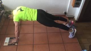 Plancha con flexión de rodilla y codo contrario