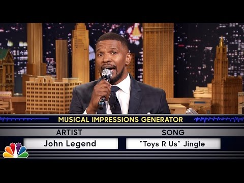 Wheel of Musical Impressions with Jamie Foxx (видео)