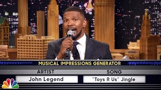 Video Wheel of Musical Impressions with Jamie Foxx MP3, 3GP, MP4, WEBM, AVI, FLV Agustus 2019