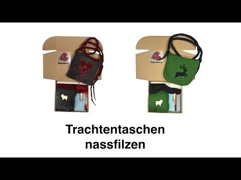Trachtentasche / Dirndltasche filzen – Filzanleitung zum Nassfilzen