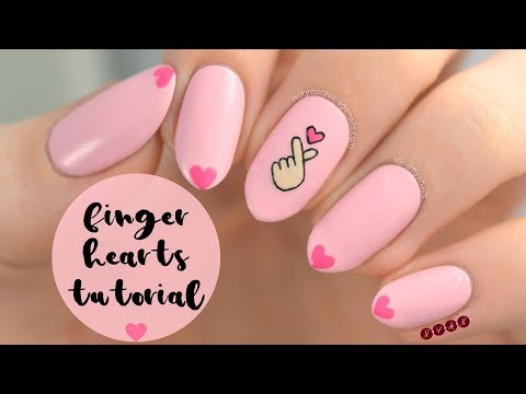 Finger Hearts Nail Art Tutorial