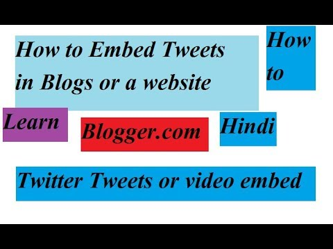 How to Embed Tweet to any Blog or Website | Hindi
