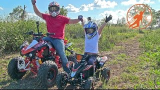 Video Father & Son Adventure Time Unboxing and Riding Adult & Kids Ride On ATV 4 Wheelers at The  Farm MP3, 3GP, MP4, WEBM, AVI, FLV November 2017