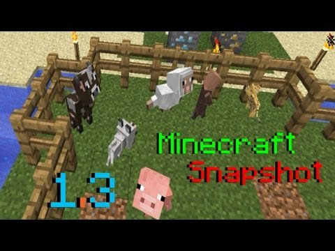 Minecraft 1.3 Snapshot: Creative Features, Dispense Minecart/Boats, Baby Egg Bug, & More!
