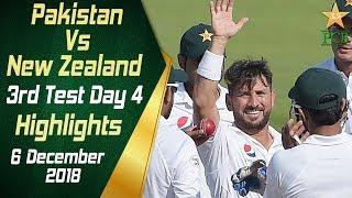 Pakistan Vs New Zealand | Highlights | 3rd Test Day 4 | 6 December 2018 | PCB