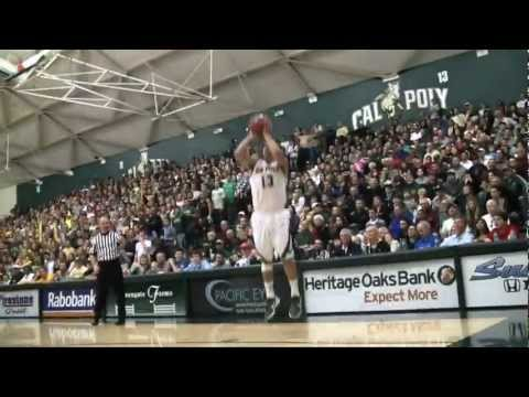 Cal Poly Men's Basketball versus Blue-Green Rival UC Santa Barbara highlight video (Feb. 16, 2013)