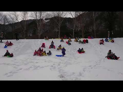 若竹保育園 雪遊び遠足初滑り