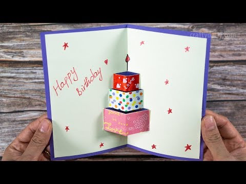 Birthday greetings - How to make Happy Birthday Card  Happy Birtday Greeting Card