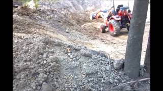 3. Digging a pond with a Compact Tractor - Kioti CK20s