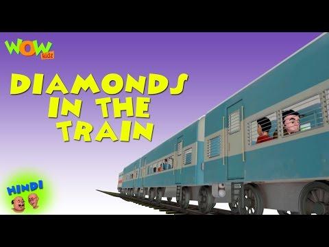 Motu Patlu Cartoons In Hindi | Animated cartoon | Diamonds in the train | Wow Kidz