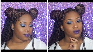 Follow me on social media Www.Instagram.com/prettybeatfaceSnapchat:@colorme_bougie  Hey dolls! This is a random yet fun look I just put together lol!! With a little glitter to make it pop! I hope you guys enjoy!! & pleaseeee tell me what you wanna see next! ✨Products In this video ✨      Morphe brushed 34B pallete lit cosmetics glitter in peacock with eye candy glitter glue.     Mac Cosmetics oil control lotion      Benefit The POREfessional pore filler becca mattifying primer      My favvv foundation Milani 2 in 1 concealer foundation. La pro girls hd concealer in the shade fawn.      Sacha buttercup setting powder     powder       Black radiance pressed powder -Rich Mahogany, Also their contour pallete Bh cosmetics foundation powder http://www.bhcosmetics.com/products/bh-studio-pro-matte-finish-pressed-powderLaura geller gilded honey cheek highlight. ✨Lips✨Sephora #16 metallic matte liquid lipstick       Please like, comment, & subscribe you guys!!   Have you watched my previous video?.    👇🏾👇🏾👇🏾👇🏾👇🏾 https://youtu.be/FwGIFN4Q2oEhttps://youtu.be/N644GIO4mqo-Prettybeatface💋