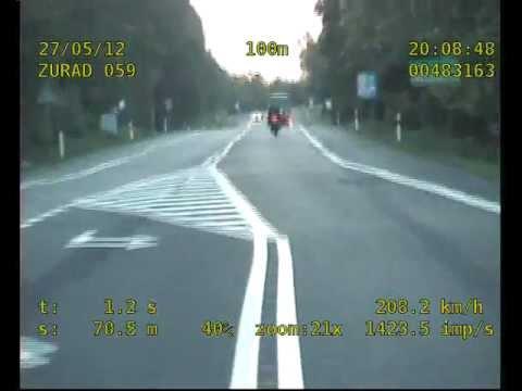 Puławy: Motocyklista bez prawa jazdy jechał 208 km/h