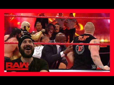 Reaction: LOCKER ROOM HAVE TO KEEP BROCK & KANE APART!!! (WWE Raw Jan, 1. 2018)