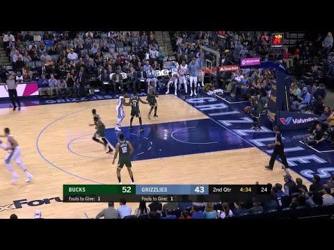 2nd Quarter, One Box Video: Memphis Grizzlies vs. Milwaukee Bucks