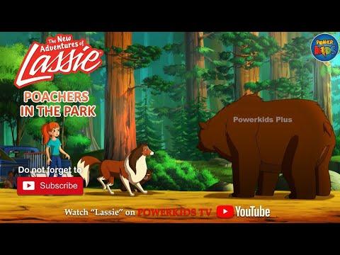 The New Adventures of Lassie | Poachers In The Park | Cartoon Series | Powerkids Plus