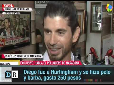 Diego fue a Hurlingham y se hizo pelo y barba, gasto 250 pesos