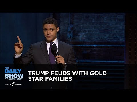 Trump Feuds with Gold Star Families: The Daily Show (видео)