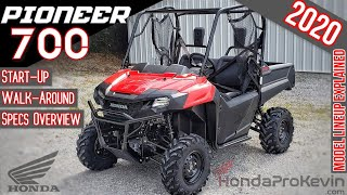 8. 2020 Honda Pioneer 700 Review of Specs / Walk-Around | Base Model SxS / UTV: SXS700M2