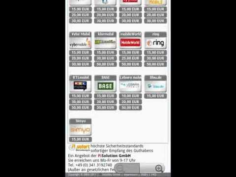 Video of Prepaid mobile phone recharge
