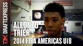 2014 Allonzo Trier Interview - DraftExpress - FIBA U18 Americas