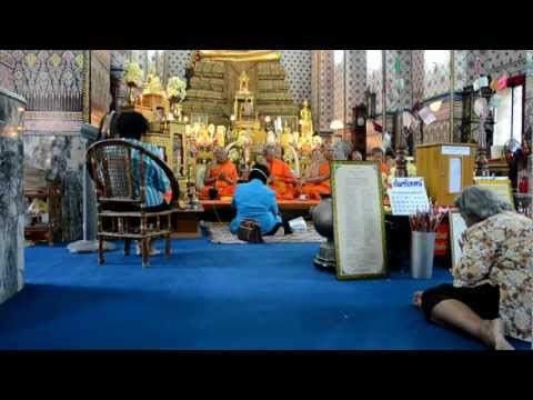 Monks Chanting in a Thai Temple