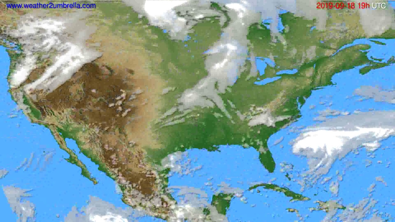 Cloud forecast USA & Canada // modelrun: 12h UTC 2019-09-15